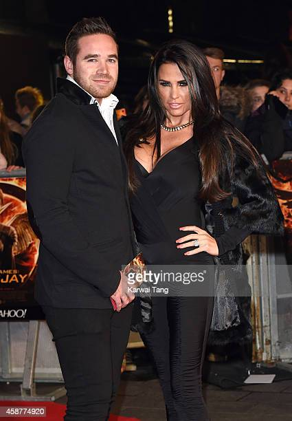 Kieran Hayler and Katie Price attend the World Premiere of 'The Hunger Games Mockingjay Part 1' at Odeon Leicester Square on November 10 2014 in...