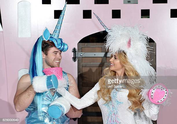 Kieran Hayler and Katie Price pose at the press launch of Katie Price's new reality show 'Pony Club' at The Worx on April 27 2016 in London England