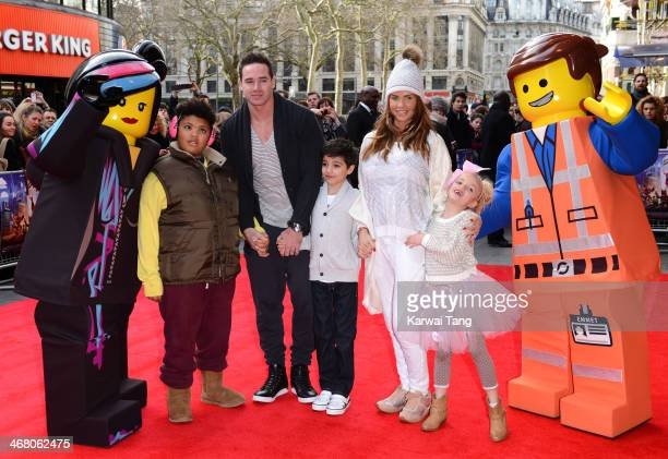Kieran Hayler and Katie Price with her children Harvey Price Junior Andre and Princess Tiaamii Andre attend a VIP screening of 'The Lego Movie' at...