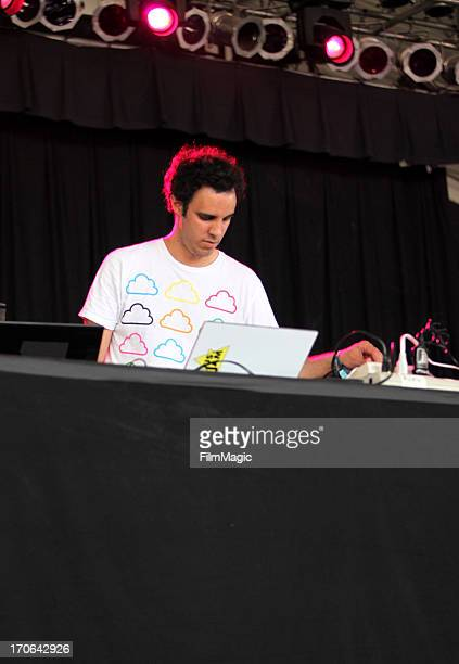 Kieran Hebden aka Four Tet performs onstage at What Stage during day 3 of the 2013 Bonnaroo Music Arts Festival on June 15 2013 in Manchester...