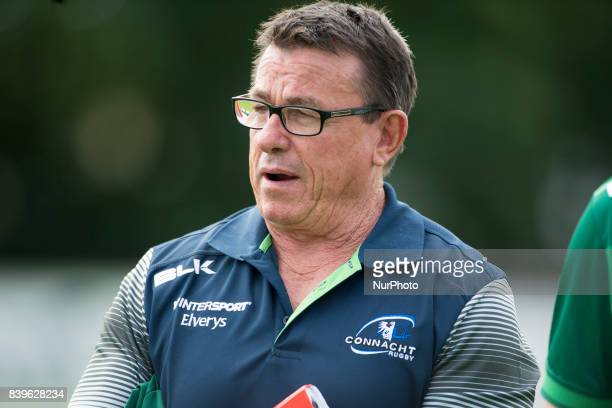 Kieran Keane Manager of Connacht during the PreSeason Friendly match between Connacht Rugby and Bristol Rugby at the Sportsground in Galway Ireland...
