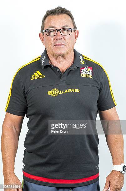 Kieran Keane poses during the 2016 Chiefs Super Rugby Headshots Session on February 3 2016 in Hamilton New Zealand