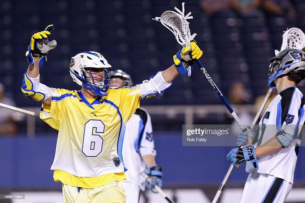 Kieran McArdle #6 of the Florida Launch reacts after scoring a goal during the second half of the game against the Ohio Machine at Florida Atlantic University Stadium on May 10, 2014 in Boca Raton, Florida.
