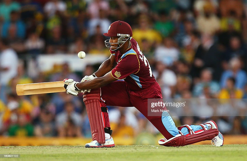 Kieran Powell of the West Indies bats during the Commonwealth Bank One Day International Series between Australia and the West Indies at Manuka Oval on February 6, 2013 in Canberra, Australia.
