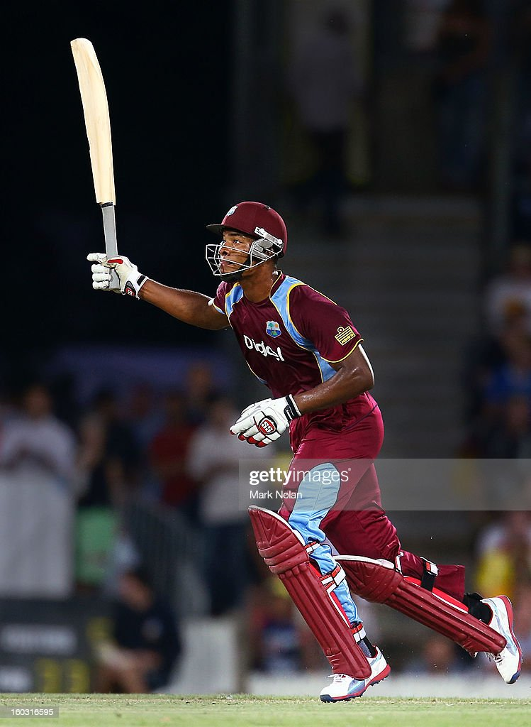Kieran Powell of the West Inides bats during the International Tour Match between the Prime Minister's XI and West Indies at Manuka Oval on January 29, 2013 in Canberra, Australia.