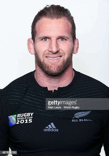 Kieran Read of New Zealand poses for a portrait during the New Zealand Rugby World Cup 2015 squad photo call on September 12 2015 in London England