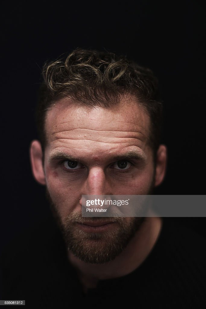 Kieran Read of the All Blacks poses for a portrait during a New Zealand All Black portrait session on May 29, 2016 in Auckland, New Zealand.