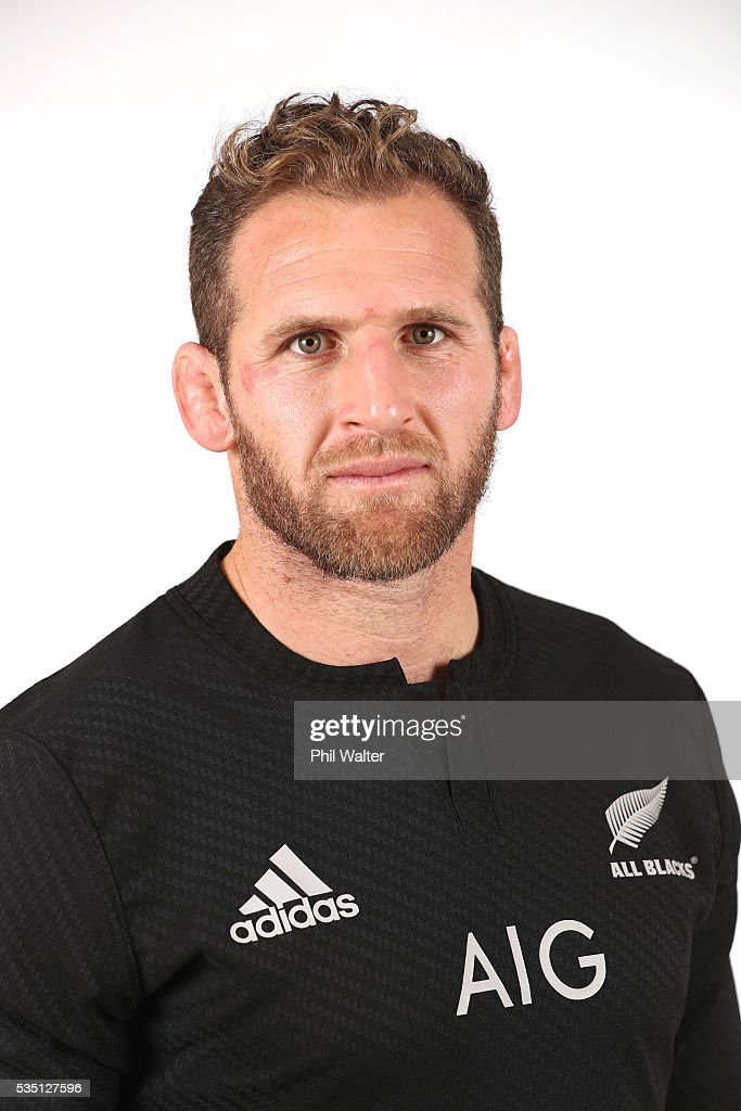 <a gi-track='captionPersonalityLinkClicked' href=/galleries/search?phrase=Kieran+Read&family=editorial&specificpeople=789465 ng-click='$event.stopPropagation()'>Kieran Read</a> of the All Blacks poses for a portrait during a New Zealand All Black portrait session on May 29, 2016 in Auckland, New Zealand.