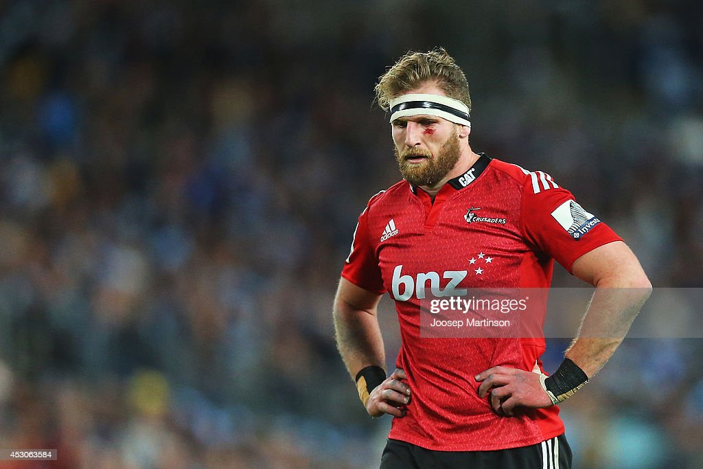 Kieran Read of the Crusaders looks dejected during the Super Rugby Grand Final match between the Waratahs and the Crusaders at ANZ Stadium on August...