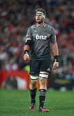 Kieran Read of the Crusaders looks on during the Super Rugby quarter final clash between the Emirates Lions and the Crusaders at Ellis Park rugby...