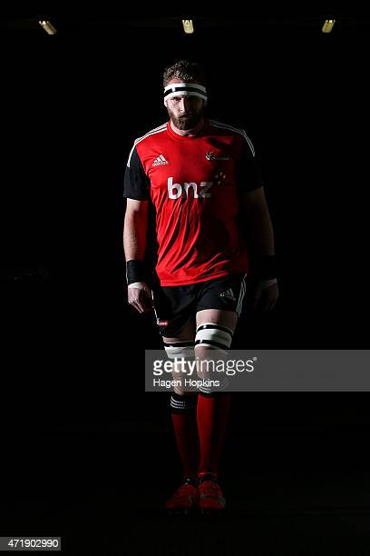 Kieran Read of the Crusaders takes the field to warm up during the round 12 Super Rugby match between the Hurricanes and the Crusaders at Westpac...