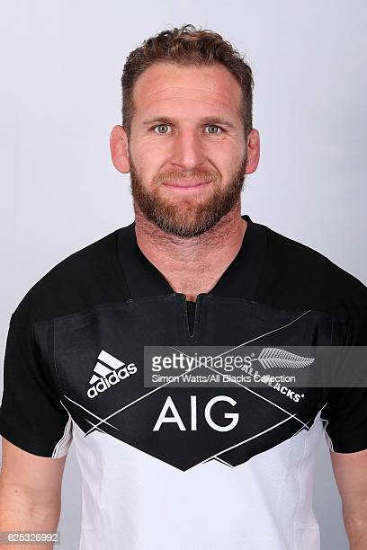 Kieran Read poses during the All Blacks End of Year Tour 2016 Headshots Session at Auckland International Airport Novotel on October 28 2016 in...