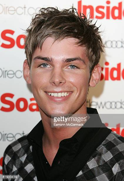 Kieran Richardson attends the launch party of The 2008 Inside Soap Awards at Great John Street Hotel on July 14 2008 in Manchester England