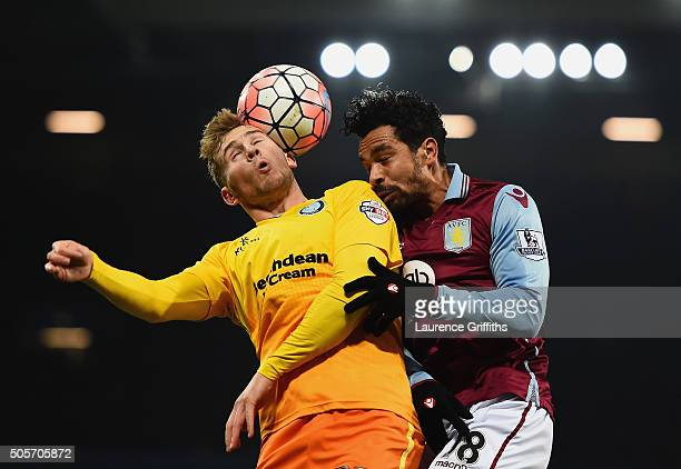 Kieran Richardson of Aston Villa and Jason McCarthy of Wycombe Wanderers compete for the ball during the Emirates FA Cup Third Round Replay match...