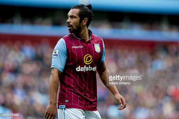 Kieran Richardson of Aston Villa during the Barclays Premier League match between Aston Villa and West Ham United at Villa Park on May 09 2015 in...