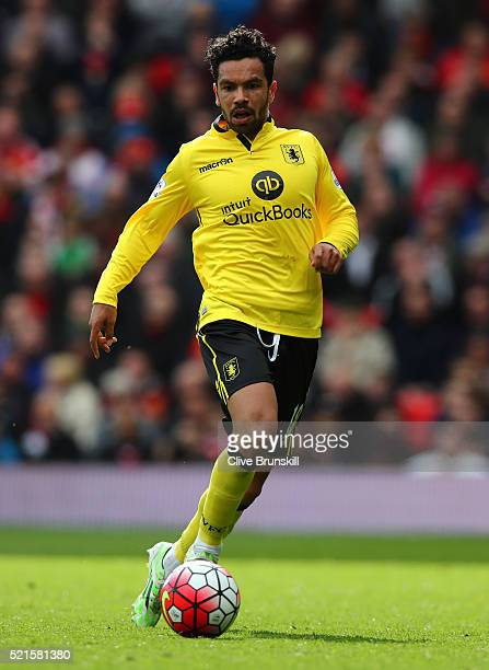 Kieran Richardson of Aston Villa during the Barclays Premier League match between Manchester United and Aston Villa at Old Trafford on April 16 2016...