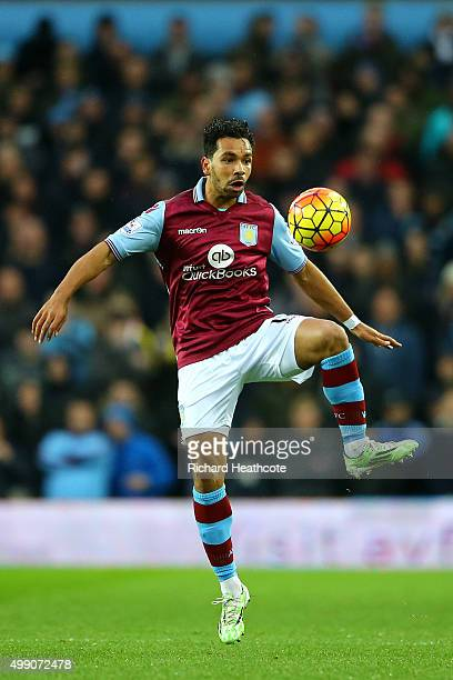 Kieran Richardson of Aston Villa in action during the Barclays Premier League match between Aston Villa and Watford at Villa Park on November 28 2015...