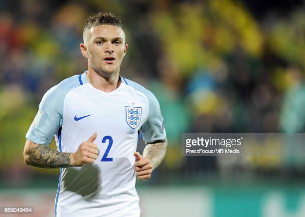 Kieran Trippier during the FIFA 2018 World Cup Qualifier between Lithuania and England on October 8 2017 in Vilnius Lithuania