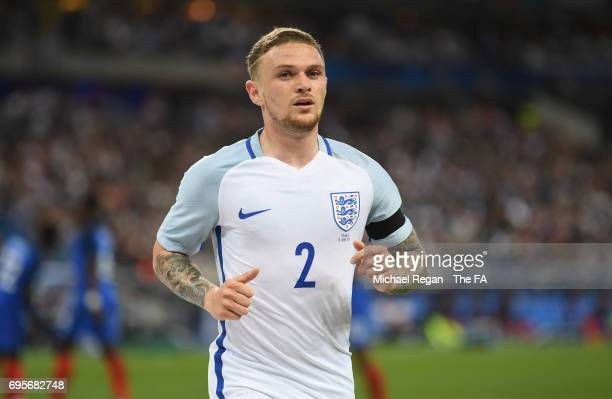 Kieran Trippier of England looks on during the International Friendly match between France and England at Stade de France on June 13 2017 in Paris...