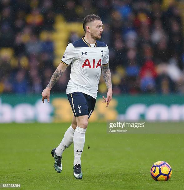 Kieran Trippier of Tottenham during the Premier League match between Watford and Tottenham Hotspur at Vicarage Road on January 1 2017 in Watford...