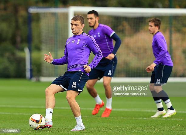Kieran Trippier of Tottenham Hotspur during a training session at the clubs training ground on November 4 2015 in Enfield England