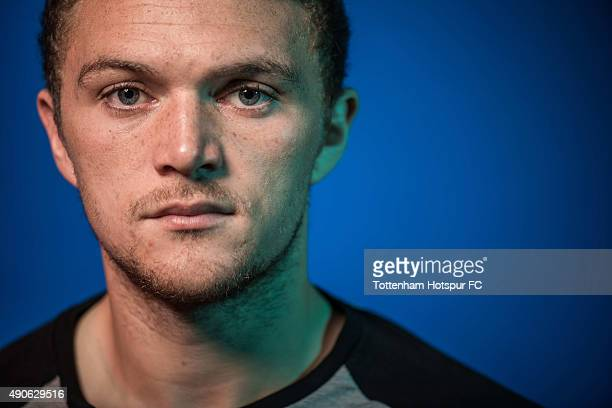 Kieran Trippier of Tottenham Hotspur poses during a portrait session at the Tottenham Hotspur Training Ground on September 29 2015 in EnfeldEngland