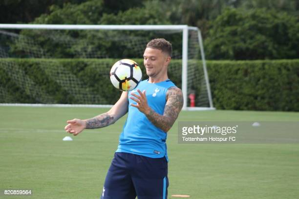 Kieran Trippier of Tottenham Hotspur takes part in a training session on the preseason USA tour on July 20 2017 in Orlando Florida