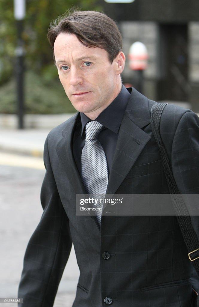 Kieren Fallon arrives at London's Central Criminal Court in London UK on Monday Oct 29 2007 Fallon an english jockey who pleaded innocent to...