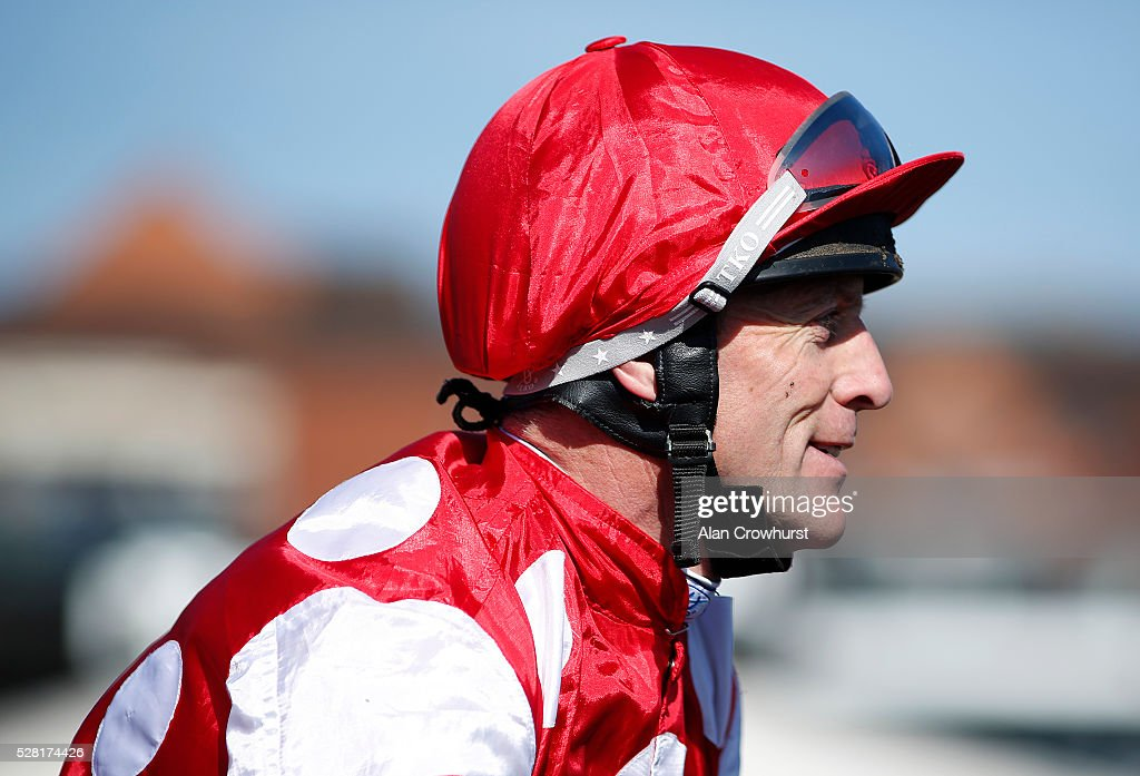 Kieren Fallon poses at Chester racecourse on May 4 2016 in Chester England