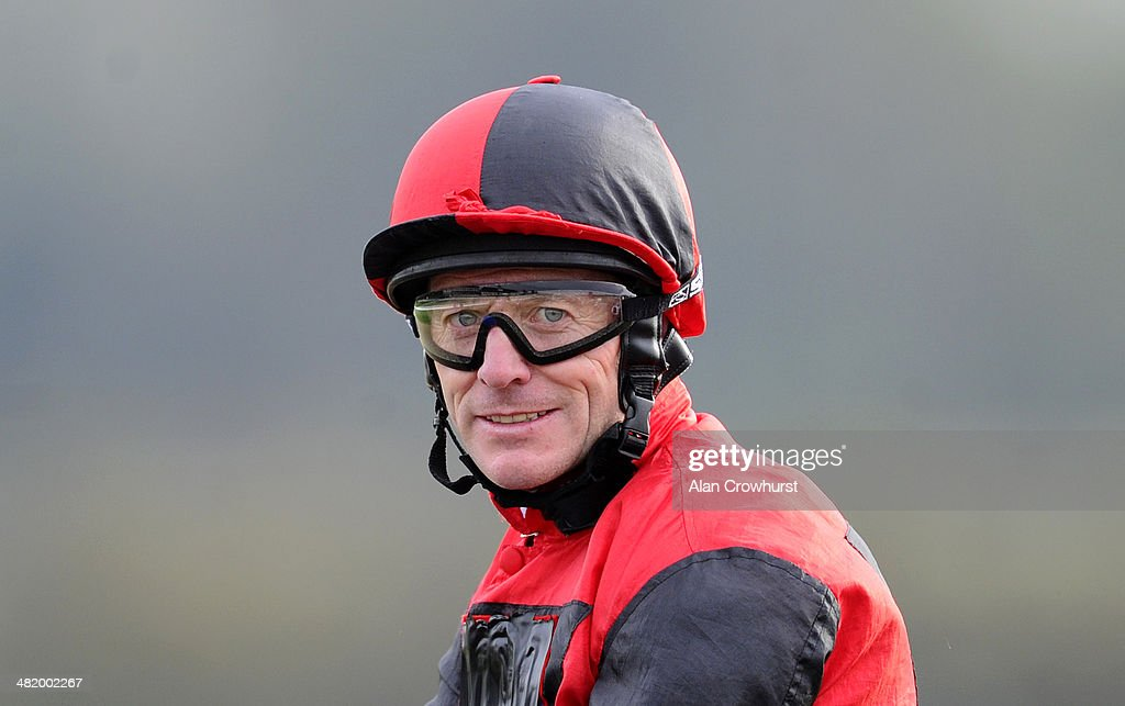 Kieren Fallon poses at Lingfield racecourse on April 02 2014 in Lingfield England