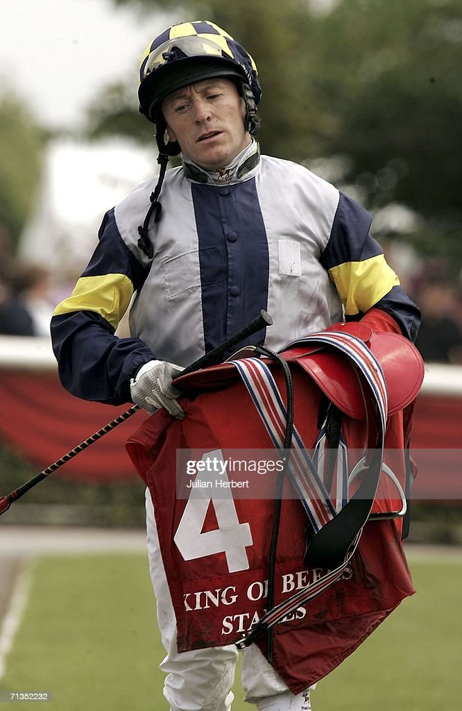 Kieren Fallon returns after ridding Tournedos in The King Of Beers Stakes Race run at The Curragh Racecourse on July 2 2006 at The Curragh Ireland