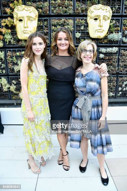 Kiernan Shipka Alison Wright and Jackie Hoffman attend the BBC America BAFTA Los Angeles TV Tea Party 2017 at The Beverly Hilton Hotel on September...