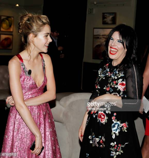 Kiernan Shipka and Alexis Martin Woodall attend FX's 'Feud Bette And Joan' FYC event after party at The Wilshire Ebell Theatre on April 21 2017 in...