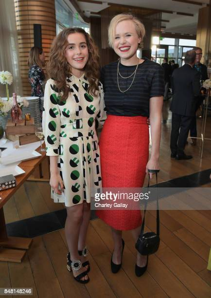 Kiernan Shipka and Alison Pill attend FX Networks celebration of their Emmy nominees in partnership with Vanity Fair at Craft on September 16 2017 in...