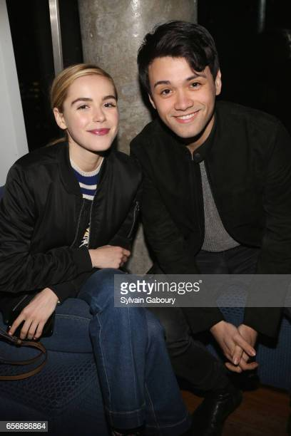 Kiernan Shipka and Giullian Yao Gioiello attends the after party for 'The Blackcoat's Daughter' hosted by The Cinema Society A24 and DirecTV on March...