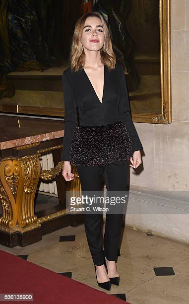 Kiernan Shipka arrives for the Christian Dior showcase of its spring summer 2017 Cruise collection at Blenheim Palace on May 31 2016 in Woodstock...