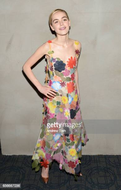 Kiernan Shipka attends a screening of 'The Blackcoat's Daughter' hosted by A24 and DirecTV with The Cinema Society at Landmark Sunshine Cinema on...