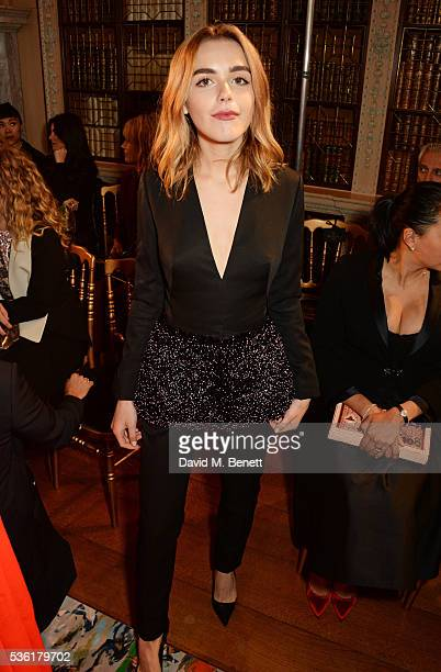 Kiernan Shipka attends as Christian Dior showcases its spring summer 2017 cruise collection at Blenheim Palace on May 31 2016 in Woodstock England