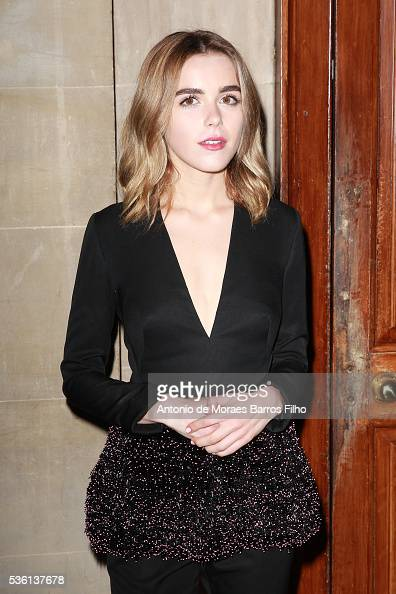 Kiernan Shipka attends Christian Dior showcases its spring summer 2017 cruise collection at Blenheim Palace on May 31 2016 in Woodstock England