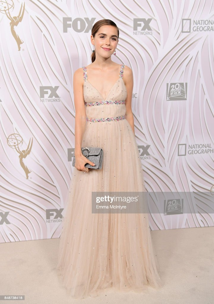 Kiernan Shipka attends FOX Broadcasting Company, Twentieth Century Fox Television, FX And National Geographic 69th Primetime Emmy Awards After Party at Vibiana on September 17, 2017 in Los Angeles, California.