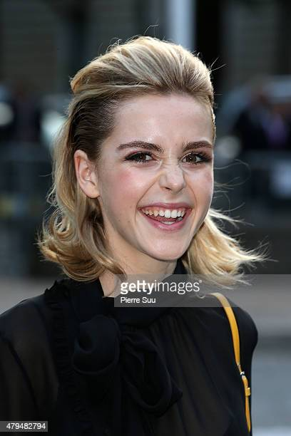 Kiernan Shipka attends Miu Miu Club Launch of the First Miu Miu Fragrance and Croisiere 2016 Collection at Palais d'Iena on July 4 2015 in Paris...