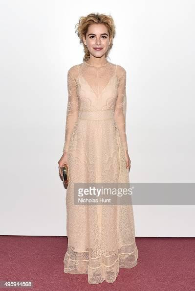 Kiernan Shipka attends the 2015 Guggenheim International Gala Dinner made possible by Dior at Solomon R Guggenheim Museum on November 5 2015 in New...