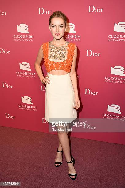Kiernan Shipka attends the 2015 Guggenheim International Gala PreParty made possible by Dior at Solomon R Guggenheim Museum on November 4 2015 in New...