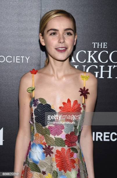 Kiernan Shipka attends the A24 And DirecTV With The Cinema Society host a Screening Of 'The Blackcoat's Daughter' at Landmark Sunshine Cinema on...