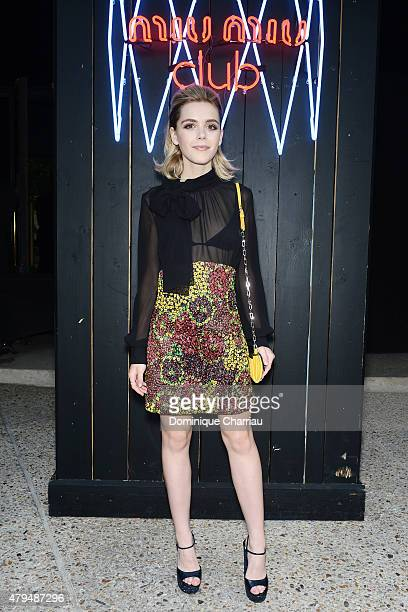 Kiernan Shipka attends the Miu Miu Club Launch Of the First Miu Miu Fragrance And Croisiere 2016 Collection at Palais d'Iena on July 4 2015 in Paris...