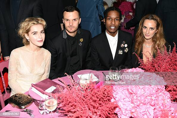 Kiernan Shipka Kris Van Assche Dior ASAP Rocky and Alexia Niedzielski attend the 2015 Guggenheim International Gala Dinner made possible by Dior at...