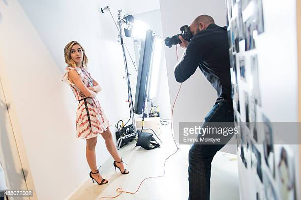 Kiernan Shipka poses for a portrait with Maarten de Boer in the Guess Portrait Studio at the Toronto International Film Festival on September 13 2015...