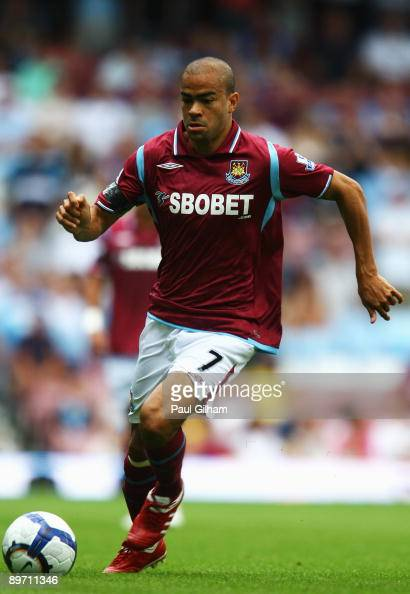 Kieron Dyer of West Ham United in action during the Bobby Moore Cup between West Ham United and Napoli at Upton Park on August 8 2009 in London...