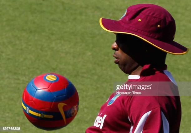 Kieron Pollard of West Indies practices at 3rd One day match of Airtel ODI series held at Sardar Patel Gujarat Stadium on Sunday in Ahmedabad