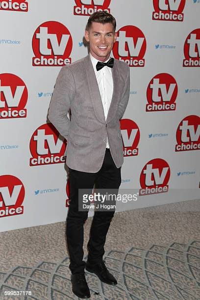 Kieron Richardson arrives for the TVChoice Awards at The Dorchester on September 5 2016 in London England